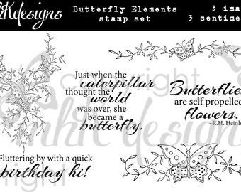Butterfly Elements Digital Stamp Set
