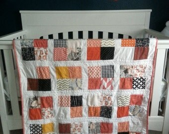 Candy Corn Quilt, Baby Blanket, Crib Quilt, Toddler Blanket, Snuggle Quilt, Security Blanket, Throw Blanket
