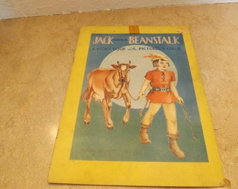 Jack and the Beanstalk Story Book with Pictures to Color