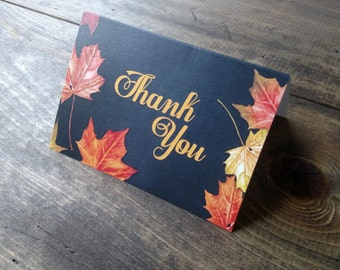 Fall Leaves and Chalkboard Thank You's