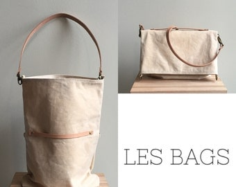 Waxed Canvas Tote/Crossbody - Natural