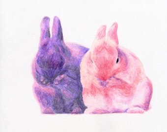 Fine Art Print • Pink Bunnies #5