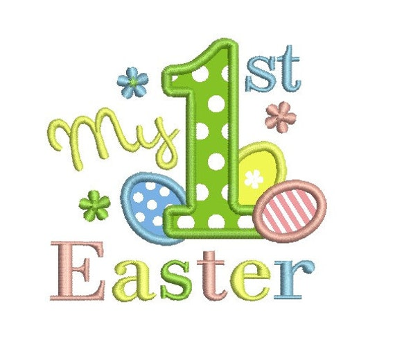 My first easter applique embroidery design from idigitize