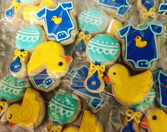 Mini Rubber Ducky baby shower cookies