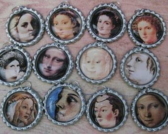 Renaissance Women Wine Glass Tags (Set of 12) C164