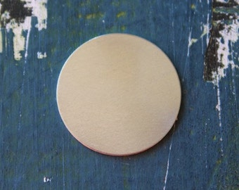 """Aluminum Round Stamping Blank - 1"""" Metal Stamping Blank - 16 Gauge - Pack of 10 - Jewelry Metal Stamping Blank - SGAD12421"""