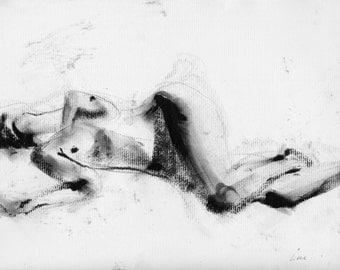 Haunting Fine Art Figure Drawing, No. 83
