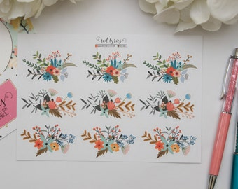 Watercolor Floral Stickers #2, Planner Stickers