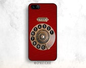 Rotary Phone iPhone 6 Case, Red Phone iPhone 6S Case, Monogrammed iPhone Case, iPhone 5C Case,  Personalized iPhone Case, iPhone 5S Case