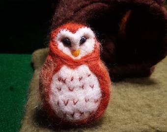 Needle Felted Owl Barn Owl, Felt Owl, Needle Felted, Owl,