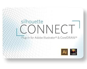 Silhouette CONNECT Plugin Card for Adobe Illustrator or CorelDRAW