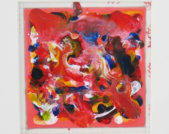 Abstract Painting Abstract Art Original Painting Red Art MicheleACaron