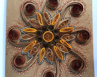 Quilled Zentangle Greeting Card Frameable