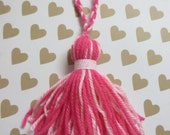 Strawberry Sparkle Yarn Tassel