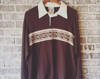 Men's Vintage Long Sleeved Tee Size XL