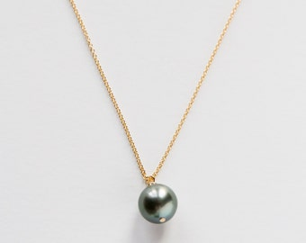 Gold Filled Tahitian Pearl Necklace