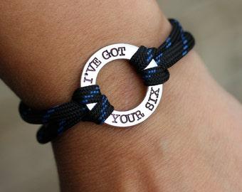 Police Wife Bracelet - I've Got Your Six - Police Bracelet - Police Mom Bracelet - Police Girlfriend - Police Daughter - Police Gift