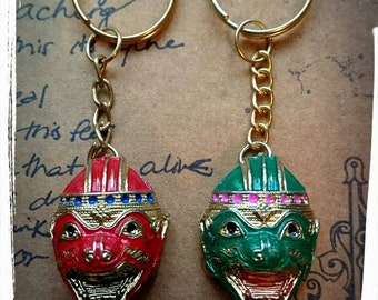 Thai Devil Mask Keyring Or Bagcharm