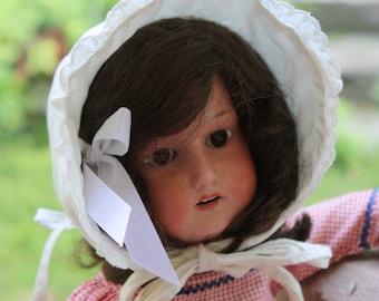 Vintage White Doll Bonnet