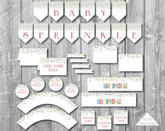 Baby Sprinkle Party Printables, Baby Sprinkle Shower, Baby Shower Printables, Baby Shower Decorations, Sprinkle Shower, Instant Download