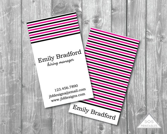 Girly business card printable business cards edgy business for Edgy business cards