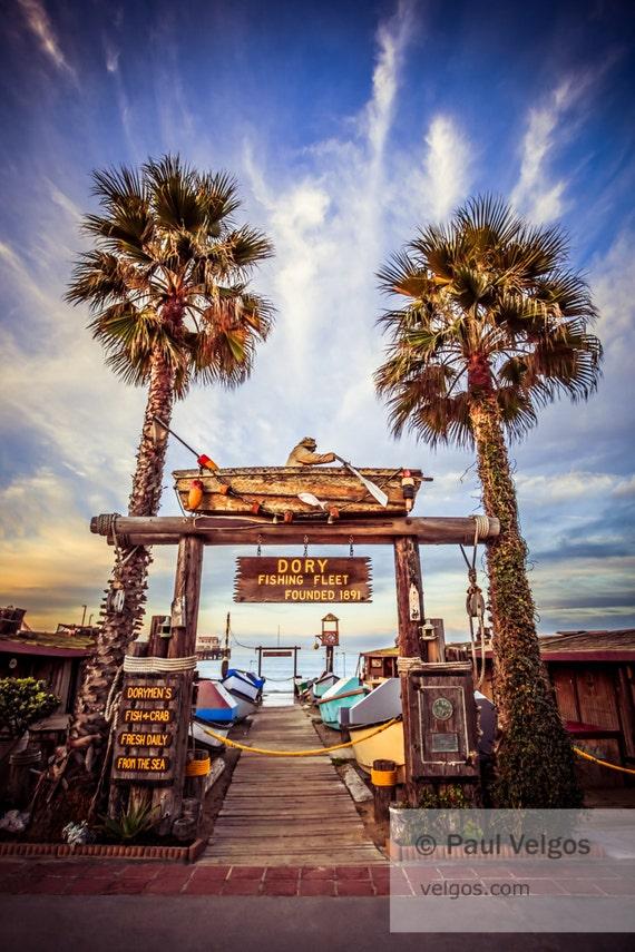 Dory fishing fleet newport beach california art print canvas for Dory fishing fleet