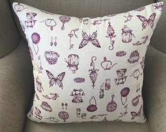Cushion Cover/Pillow in Sevenberry Japanese Fabric