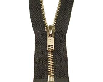 "32"" #5 YKK Open Black Metal Zipper"