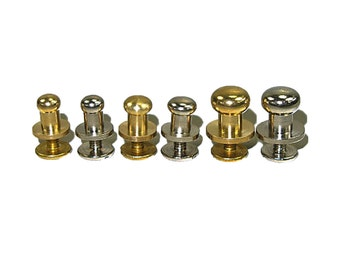 Button Stud Screwback 10 Pack - 3 Sizes