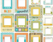 Simple Stories - You Are Here! - Chipboard Frames - 24 pieces - 6238