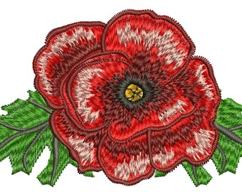 poppy embroidery  - Machine Embroidery Design