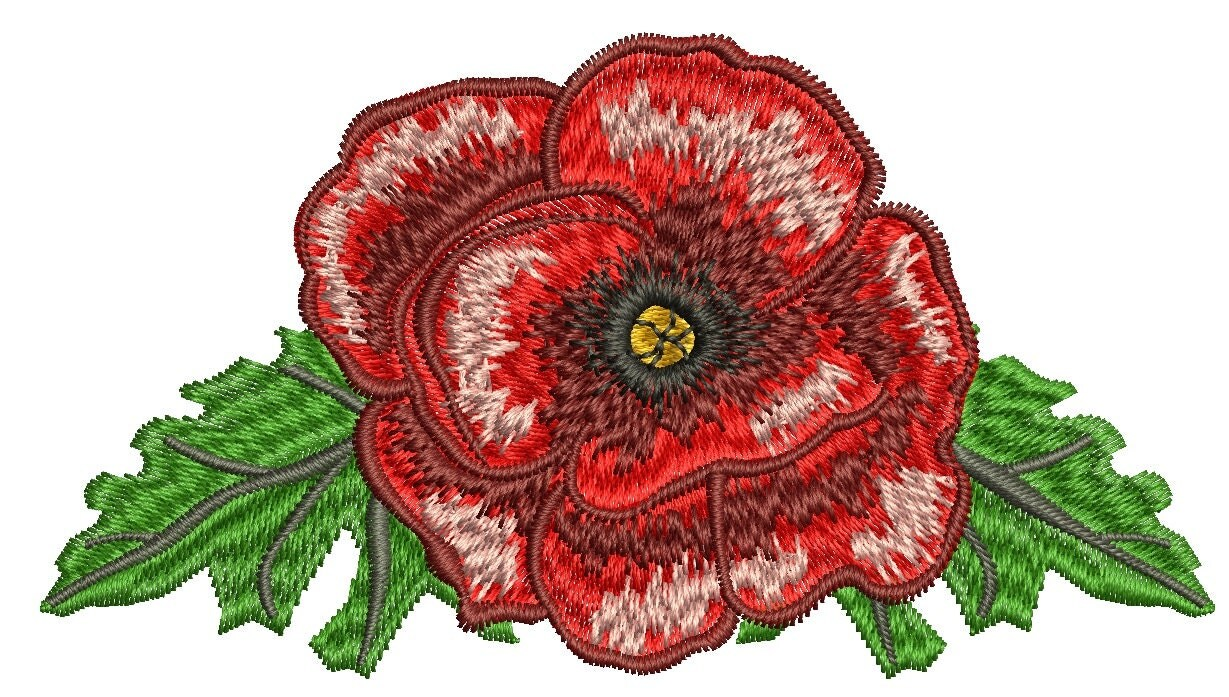 Poppy Embroidery Machine Embroidery Design