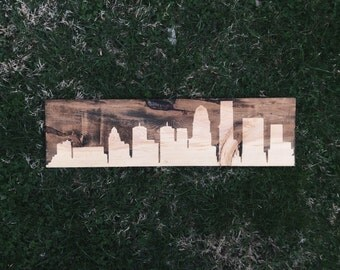 Custom City Skyline Wood Sign - Home Wall Decor