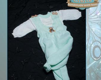 Babies Dungarees & Jumper Set