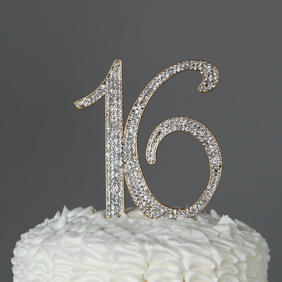 gold bling wedding cake topper sweet sixteen 16th birthday cake topper gold by 14748