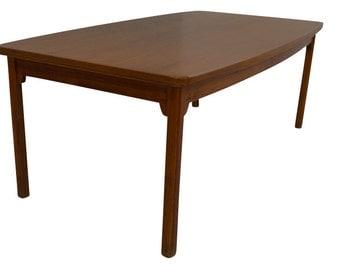 Teak Dining Table Danish Modern Mid Century