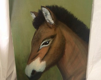 Fine Filly Horse Colt Canvas Painting Picture Cowboy Cowgirl Western