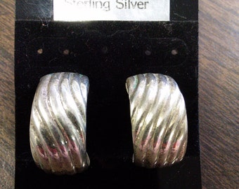Sterling Silver Pierced Earrings