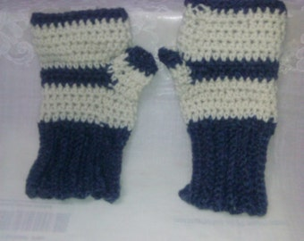 Crocheted Fingerless Texting Mitts