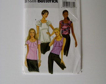 Butterick B5608 Sewing Pattern Pullover Top Sleeveless Top Drape Neck Top Tank Top Plus Size 16 18 20 22 Uncut