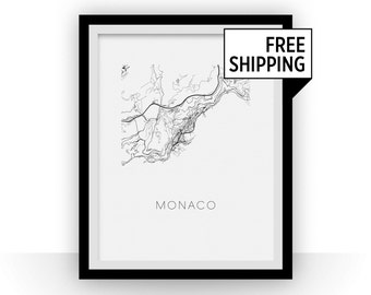 Monaco Map Print