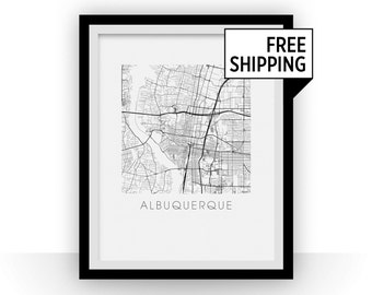 Albuquerque Map Print