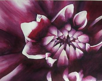 Purple Dahlia Print 8x10