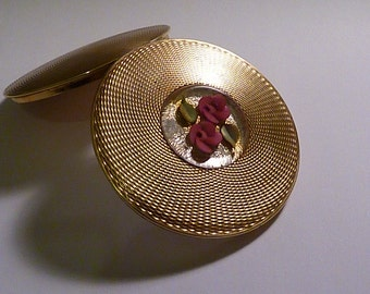 Vintage  LUCITE GLITTER compact vintage bridesmaids gifts pocket mirrors 1950s retro gifts for her trusted seller