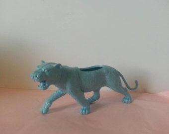 Blue Tiger Planter - Lion Toy Planter - Air Plant - Succulent - Cactus