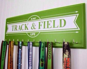 Track and Field Running medal hanger - Track and Field is my Life