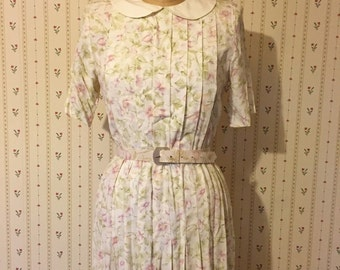 The Land Of Magnolias dress   vintage 1970s day dress