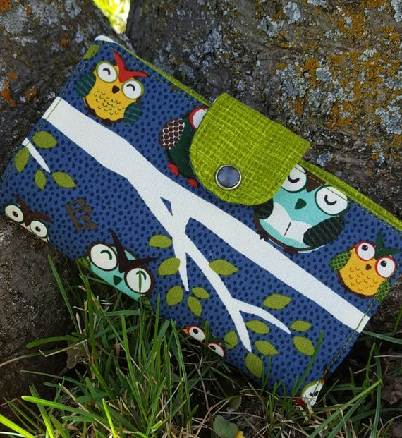 Owl Checkbook Cover, Coupon  Wallet