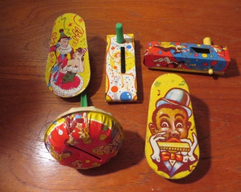 Set Of 5 Vintage New Years Noise Makers 20% Off Moving Sale Code COLORADO