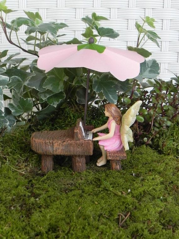Fairy Garden Figurine Playing Miniature Piano Fairy Garden